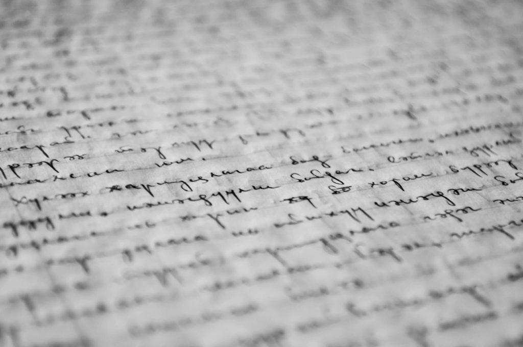 Lettera aperta scrivere penna grafia